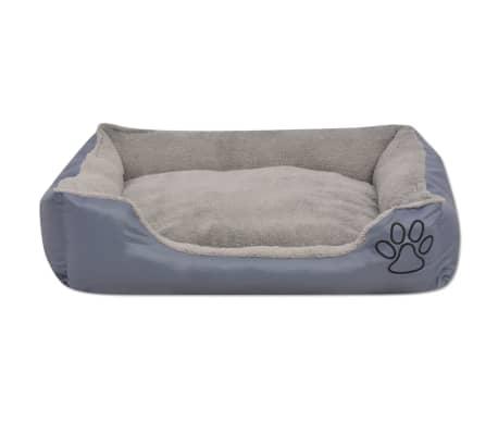 acheter vidaxl lit pour chiens avec coussin rembourr taille xxl gris pas cher. Black Bedroom Furniture Sets. Home Design Ideas