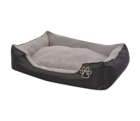 vidaXL suņu gulta ar polsterētu spilvenu, S izmērs, melna[2/5]