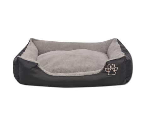 vidaXL suņu gulta ar polsterētu spilvenu, S izmērs, melna[3/5]