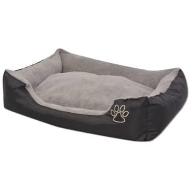 vidaXL suņu gulta ar polsterētu spilvenu, XL izmērs, melna[2/5]