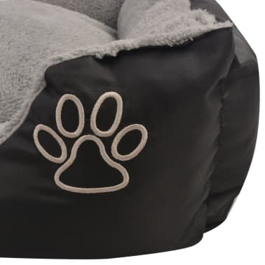 vidaXL suņu gulta ar polsterētu spilvenu, XL izmērs, melna[4/5]