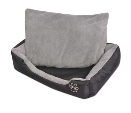 acheter vidaxl lit pour chiens avec coussin rembourr taille xxl noir pas cher. Black Bedroom Furniture Sets. Home Design Ideas