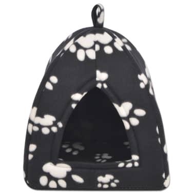 vidaXL Mačje Ležišče Velikost L Črne Barve[2/5]