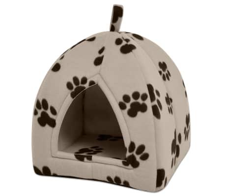 vidaXL Domek dla kota, rozmiar L, beżowy[1/5]