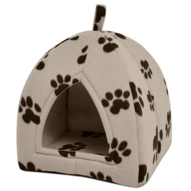 vidaXL Cama cubo para gatos tamaño L beige[1/5]