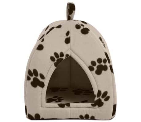 vidaXL Domek dla kota, rozmiar L, beżowy[2/5]