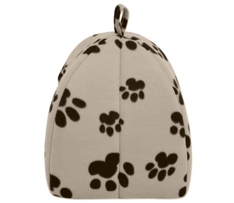 vidaXL Domek dla kota, rozmiar L, beżowy[3/5]