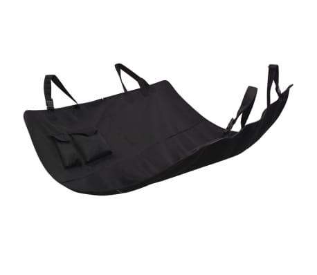 vidaXL Pet Rear Car Seat Cover 148x142 cm Black