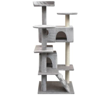 vidaXL szürke macskabútor szizál kaparófákkal 125 cm[2/4]