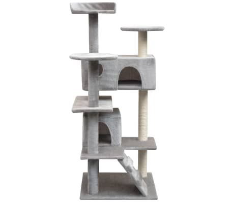 vidaXL kradsetræ til katte med sisal 125 cm grå[2/4]