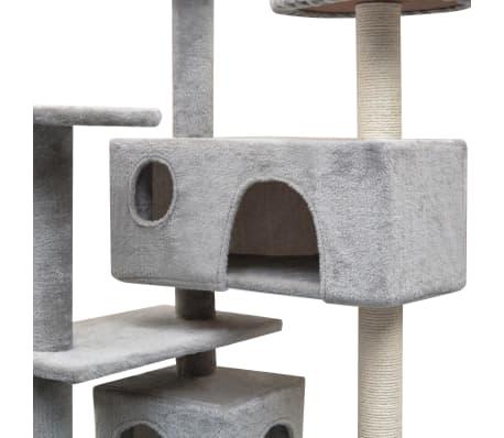 vidaXL szürke macskabútor szizál kaparófákkal 125 cm[3/4]