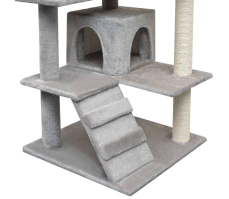 vidaXL Ansamblu pentru pisici cu funie de sisal, 125 cm, gri[4/4]