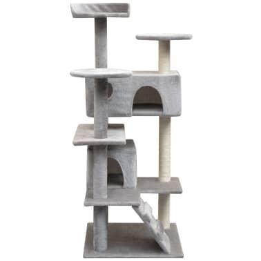 vidaXL Draskyklė katėms su stovais iš sizalio, 125 cm, pilka[2/4]