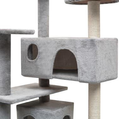vidaXL kradsetræ til katte med sisal 125 cm grå[3/4]