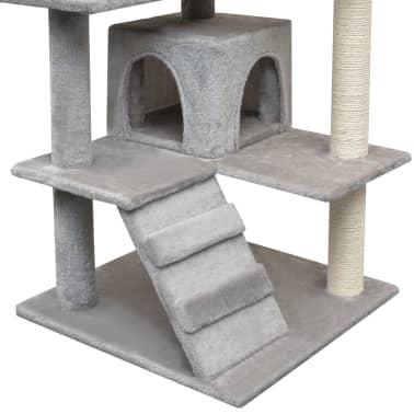 vidaXL Draskyklė katėms su stovais iš sizalio, 125 cm, pilka[4/4]
