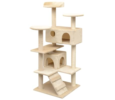 vidaXL Cat Tree with Sisal Scratching Posts 125 cm Beige[1/4]