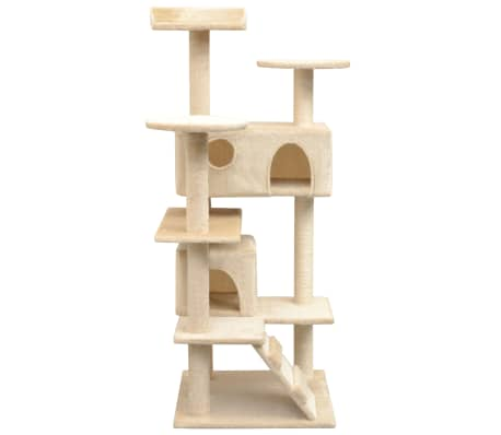 vidaXL Cat Tree with Sisal Scratching Posts 125 cm Beige[2/4]