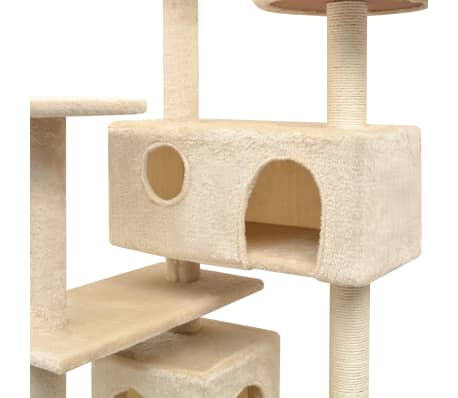 vidaXL Cat Tree with Sisal Scratching Posts 125 cm Beige[3/4]