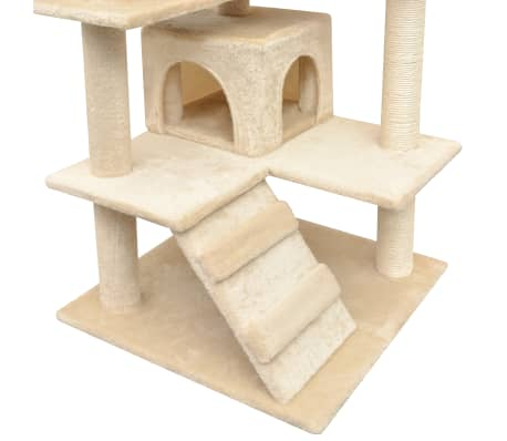 vidaXL Cat Tree with Sisal Scratching Posts 125 cm Beige[4/4]