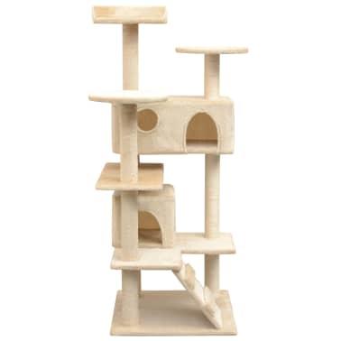 vidaXL Arbre à chat avec griffoirs en sisal 125 cm Beige[2/4]