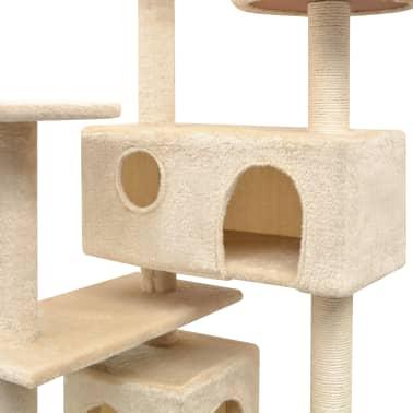 vidaXL Arbre à chat avec griffoirs en sisal 125 cm Beige[3/4]