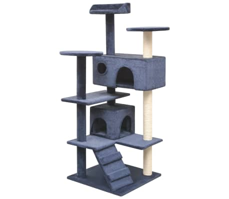 vidaXL Cat Tree with Sisal Scratching Posts 125 cm Dark Blue[1/4]