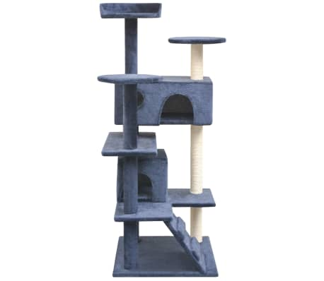 vidaXL Cat Tree with Sisal Scratching Posts 125 cm Dark Blue[2/4]