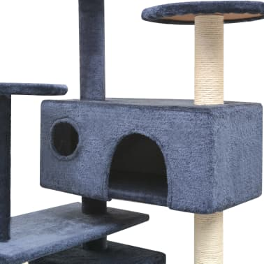 vidaXL Cat Tree with Sisal Scratching Posts 125 cm Dark Blue[3/4]