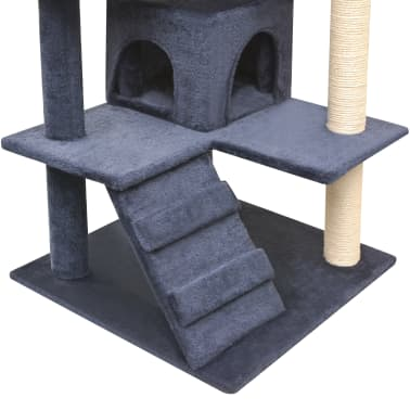 vidaXL Cat Tree with Sisal Scratching Posts 125 cm Dark Blue[4/4]