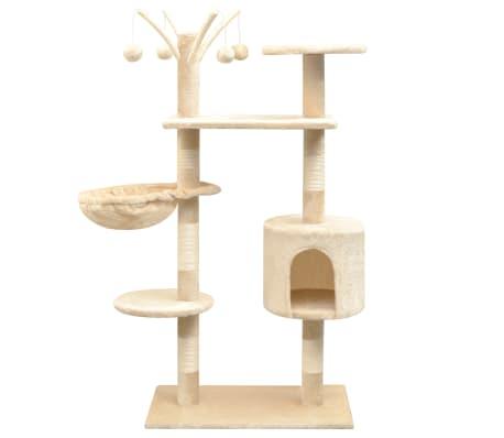 vidaXL Cat Tree with Sisal Scratching Posts 125 cm Beige