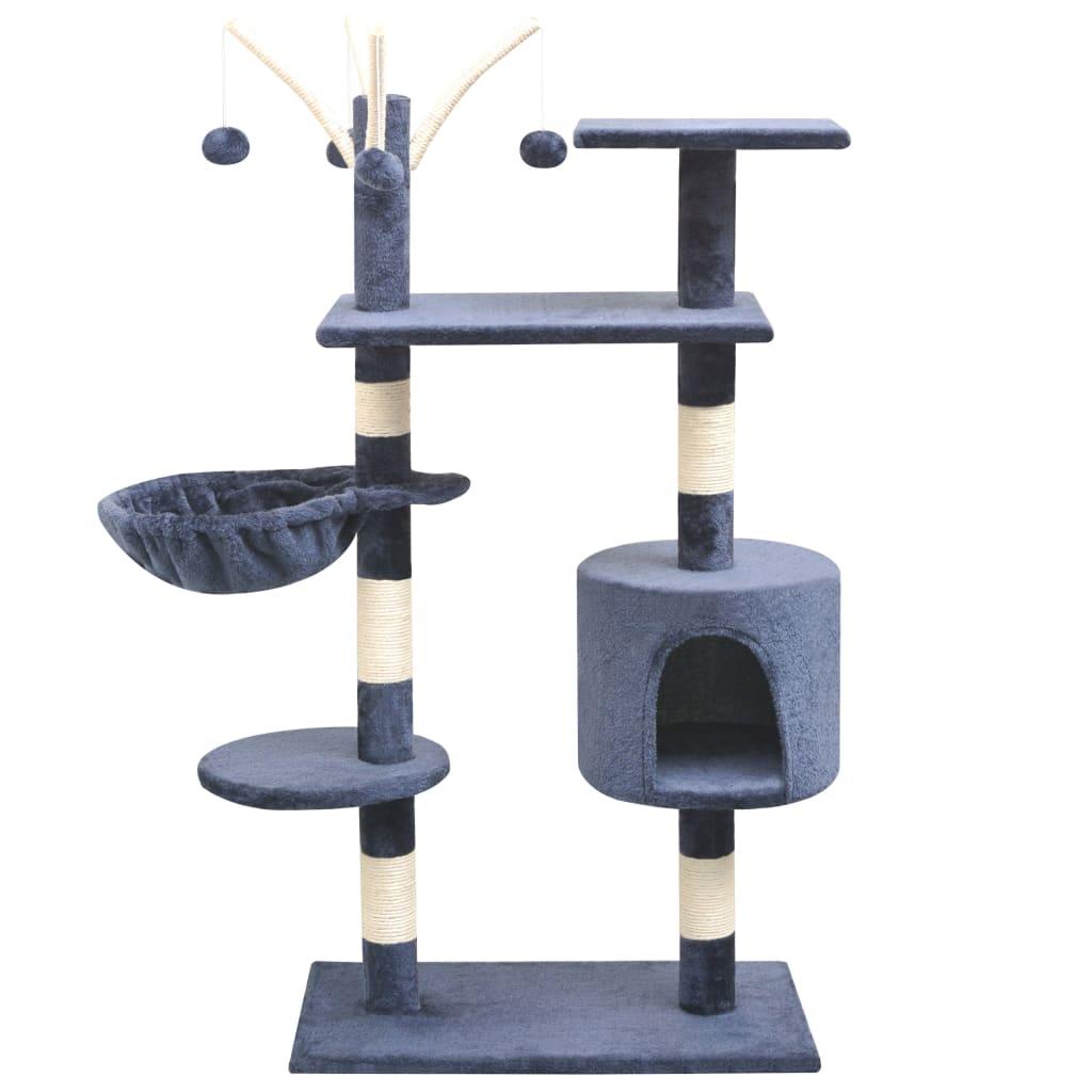 Bild von vidaXL Katzen-Kratzbaum 125 cm Dunkelblau
