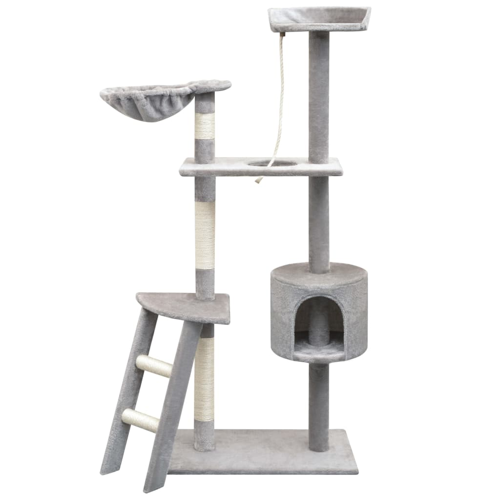 vidaXL Ansamblu pisici, stâlpi cu funie de sisal, 150 cm, gri poza vidaxl.ro