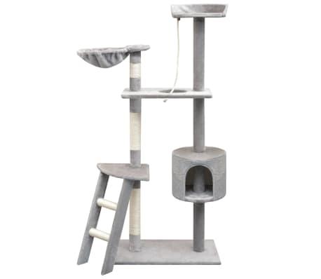 vidaXL Cat Tree with Sisal Scratching Posts 150 cm Grey