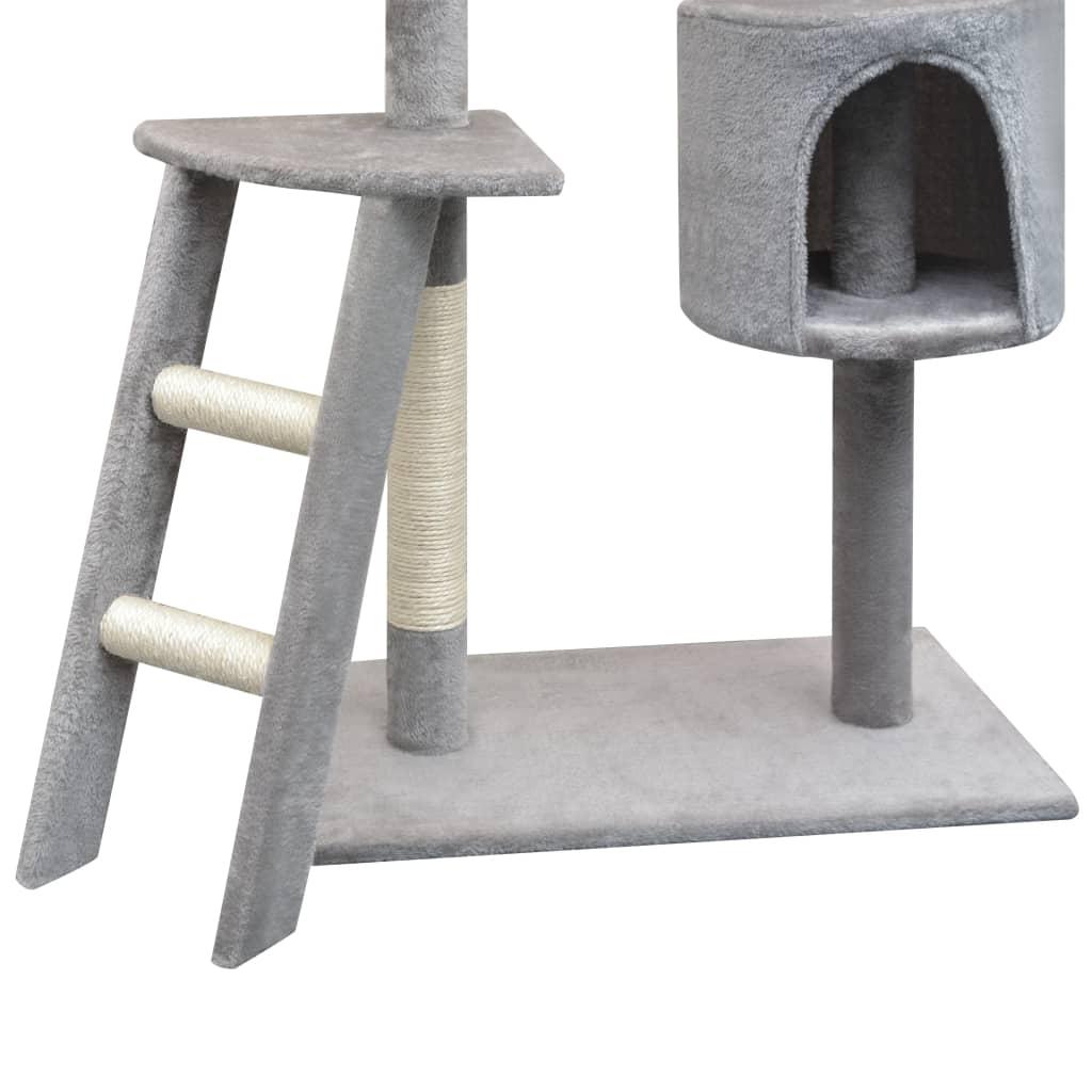 vidaXL Škrabadlo pro kočky se sisalovými sloupky, 150 cm, šedá