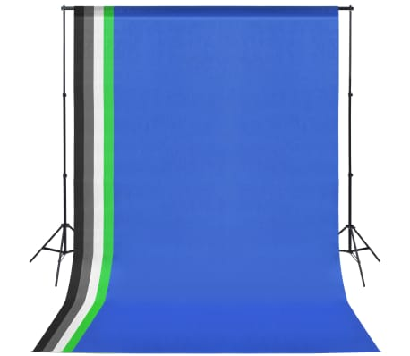 vidaXL Studioutrustning med 5 färgade bakgrunder och justerbart stativ[1/6]