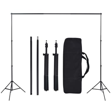 vidaXL Fotostudio-Set mit 5 farbigen Hintergründen und einstellbarer Aufhängung[5/6]