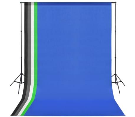 vidaXL Kit de studio photo 5 toiles de fond colorées et 2 ombrelles[2/8]