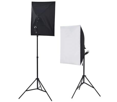 vidaXL Fotostudio set met 5 gekleurde achtergronden & 2 softboxen[5/9]