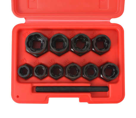 vidaXL 11 Piece Bolt Extractor Set for Damaged Bolts and Nuts Steel[3/4]