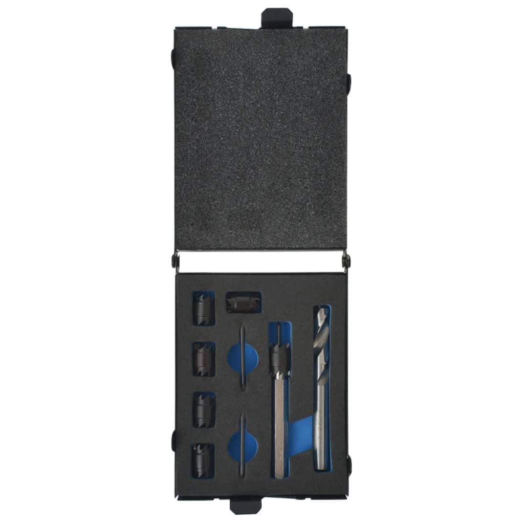 vidaXL Set burghie și cutter pentru sudură, 9 piese, HSS-Cobalt imagine vidaxl.ro