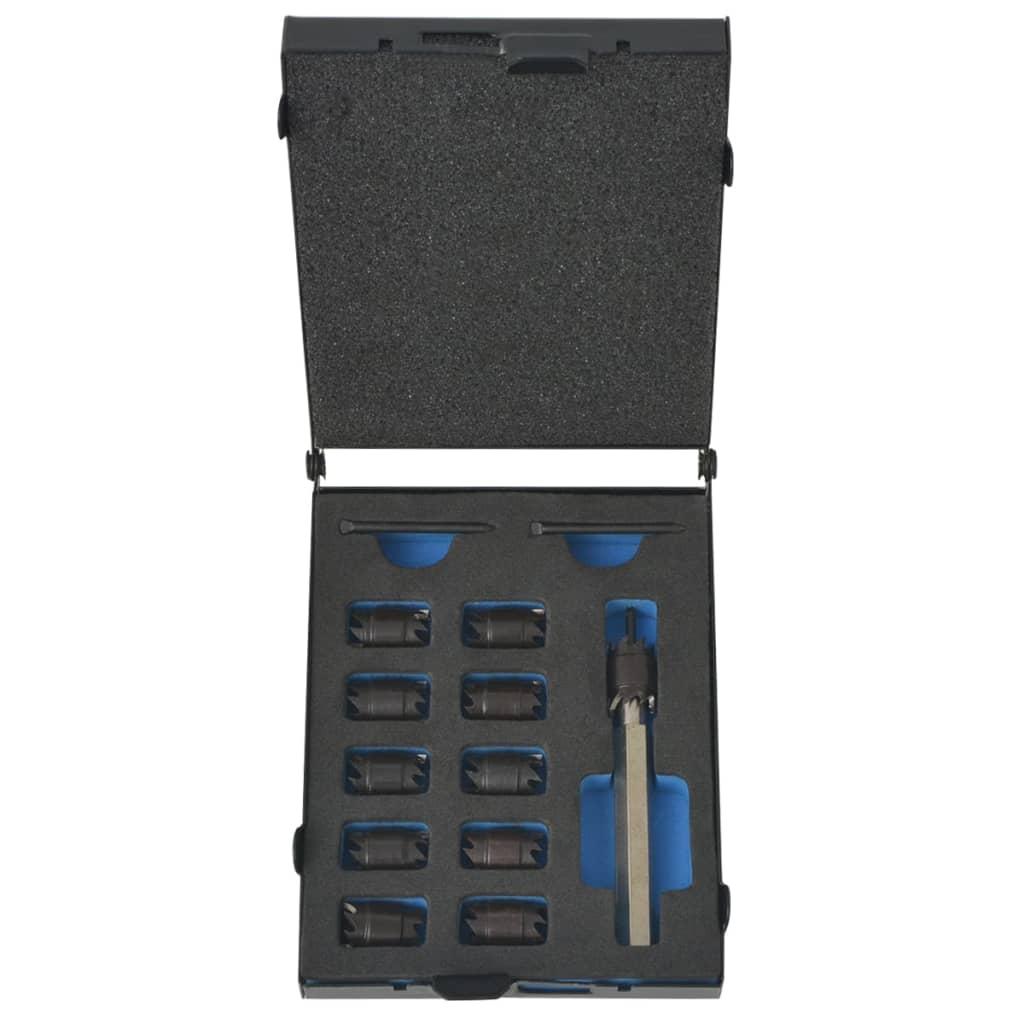 vidaXL Set de coupe-soudure par points Cobalt d'acier rapide 13 pcs