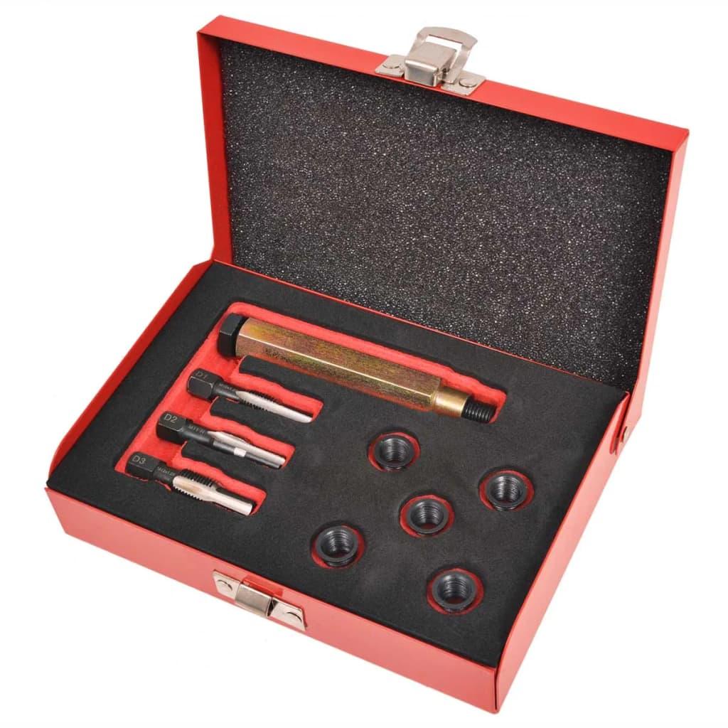 sada na opravu závitů žhavících svíček, 9 kusů M10 x 1,25 mm