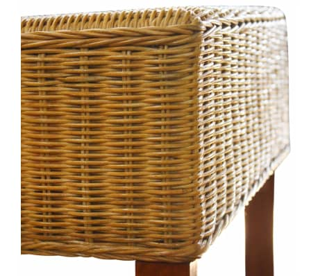 vidaXL Dining Chairs 2 pcs Rattan Brown[5/6]