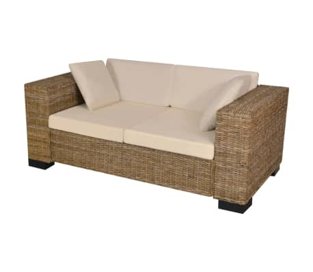 vidaxl 7 tlg 2 sitzer sofa set echtes rattan g nstig kaufen. Black Bedroom Furniture Sets. Home Design Ideas
