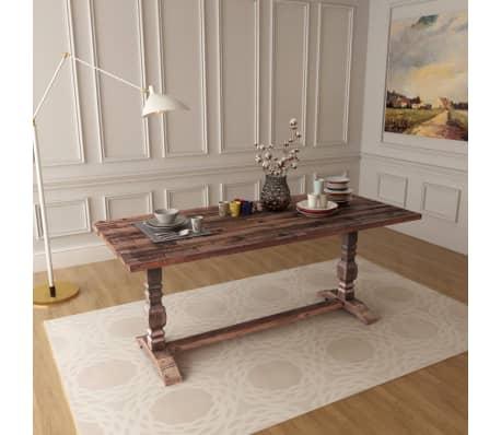 Vidaxl tavolo pieghevole con piedistallo in legno massello di acacia 180x80x75cm - Tavolo pieghevole in legno ...