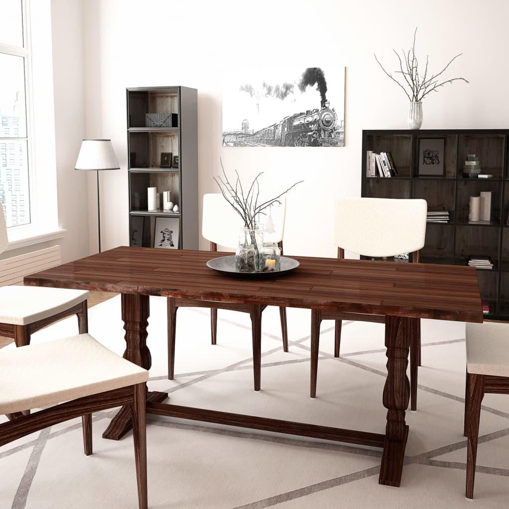 vidaXL Masă pliabilă cu piedestal dublu, lemn acacia, 180 x 80 x 75 cm poza 2021 vidaXL