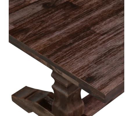 vidaXL Stolik kawowy z drewna akacjowego na postumencie[6/8]