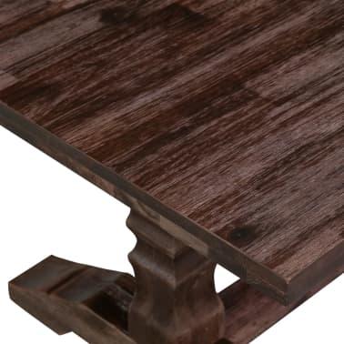 vidaXL Couchtisch mit Podest Akazienholz Massiv 100 x 60 x 45 cm[6/8]