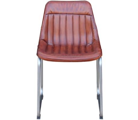 acheter vidaxl chaise 2 pi ces cuir v ritable avec rayures marron pas cher. Black Bedroom Furniture Sets. Home Design Ideas