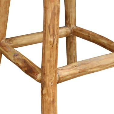 vidaXL Baro kėdė, tikra oda, ruda ir natūrali sp., 35x78 cm[3/4]